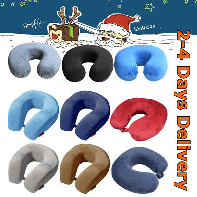 Travel Neck Pillow Memory Foam Soft U Shaped Car Airplane Head Rest Support Pad