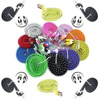 Micro USB Data Cable Charger Colours 3m for Phones Tablet Store Accessories
