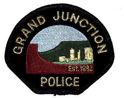 GRAND JUNCTION COLORADO CO Police Sheriff Patch MOUNTAIN SKY;INE VINTAGE OLD ~