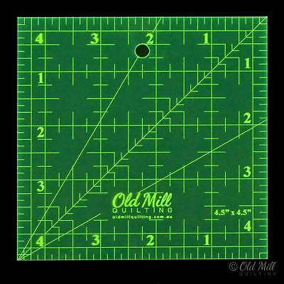Ruler 4.5 x 4.5 Inch Square Matildas Own Measuring Quilting Sewing Craft DIY