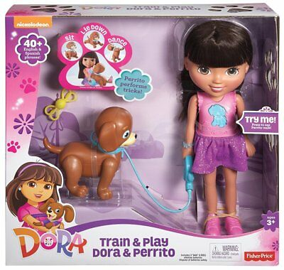 Fisher Price Dora Doll Friends Train and Play Perrito Puppy Toy Nickelodeon