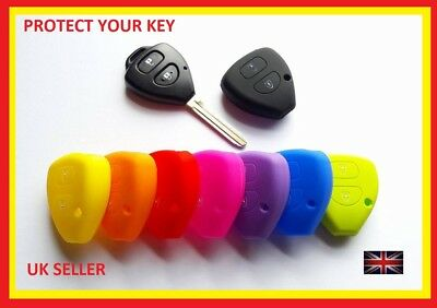 Toyota Rav4 Corolla Avensis Yaris Silicone Cover Case Remote Key Fob 2 Button 8