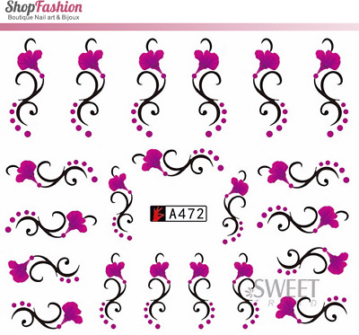 Stickers Ongles Water Décal Nail Art A-472 - Fleur