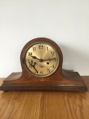 Vintage Antique German BADUF Mantle Clock   - Dent ? For Spares or Repair