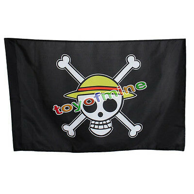 COOL Cosplay One Piece Going Merry Flag Straw Hat Skull Pirate Monkey·D·Luffy