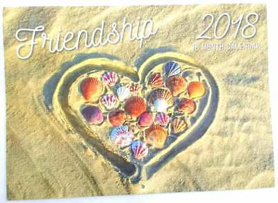 New 2018 Calendar Rectangle Wall Calendar 16 Months Friendship