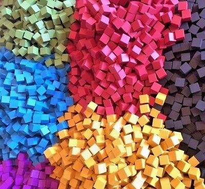 100x 8mm wooden cubes - Many Colours ! UK Seller - Game Accessories / Spares