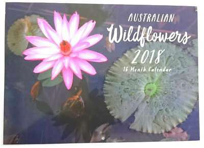 New 2018 Calendar Rectangle Wall Calendar 16 Months  Flowers Wildflowers