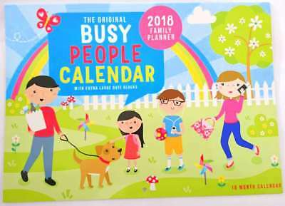 New 2018 Calendar Rectangle Wall Calendar 16 Months Busy People Family Calendar