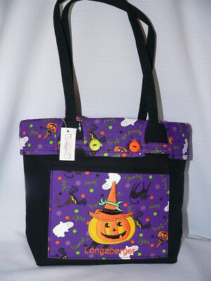 Longaberger Small Halloween Shopper Tote Purse Cute!  New