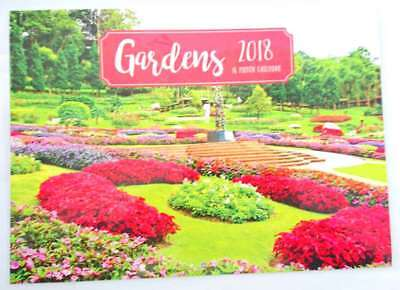 New 2018 Calendar Rectangle Wall Calendar 16 Months Garden Gardens