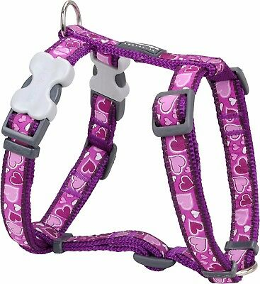 Red Dingo PURPLE Love HEART Harness for Dog or Puppy | Sizes XS - LG | FREE P&P
