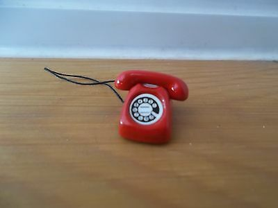 Dolls House Miniatures 1/12th Scale Accessory Red Telephone (4106) New *