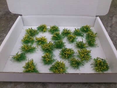 New!! 24 N Gauge Gorse Bushes for model railway, gaming etc