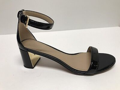 5440b7c56 TORY BURCH CECILE 55mm BLACK PATENT LEATHER ANKLE STRAP SANDALS sz 8M  275