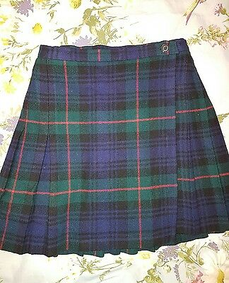 Marks and Spencer pure wool kilt style skirt. Size 8