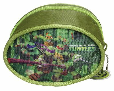 PORTAMONETE bambino TURTLES teenage mutant ninja in 3D chiuso con zip