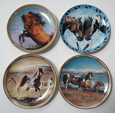 Danbury Mint collector's plate w HORSES U PICK, Wild & Free, Spirited Visions ++
