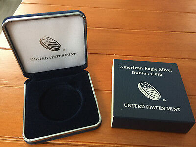 US Mint American Silver Eagle Bullion Coin Gift Box - No Coins