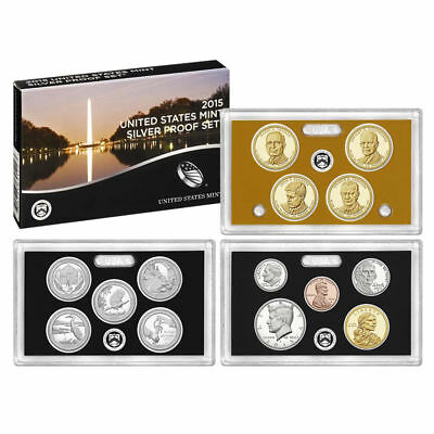 2015-S Silver Proof Set 14-Piece Unsearched Unopened 1st Strike COA