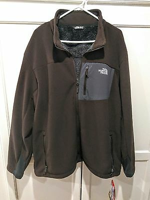 Men's 2XL The North Face zip front jacket, Chimborazo, NWT. Coffee bean brown.