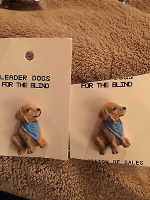 Leader Dogs For The Blind - Set Of 2 Buttons- New