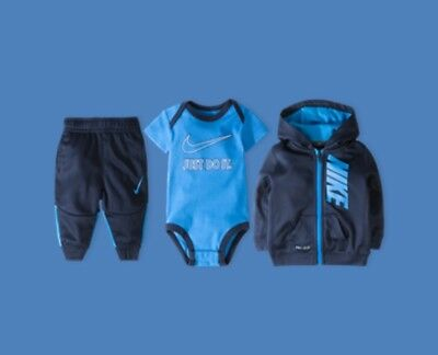 nike 3 piece infant boys gift set 0-6 months