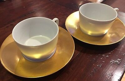 Meissen Gold Trim (4) Piece Cup And Saucer Set