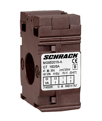 Current Transformer SCHRACK ratios 50:5-250:5A, for cable 21mm diameter, Class 1