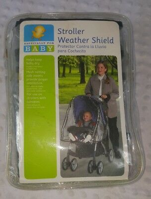 Weather Shield Stroller Rain Cover Canopy Standard Stroller Universal Size