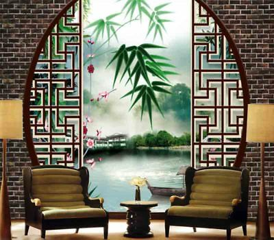 Classic Bamboo Pond 3D Full Wall Mural Photo Wallpaper Printing Home Kids Decor