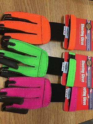 Shooting Glove Neon Leather Tips