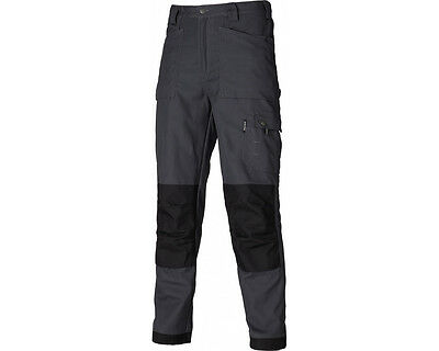 Dickies Eisenhower Multi Pocket Cargo Work Trousers EH26800 Grey/Black CLEARANCE