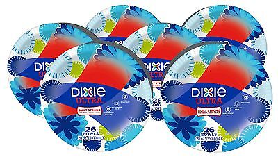 Dixie Ultra Paper Bowls 20 Ounces 156 Count (6 Packs of 26 Bowls) one