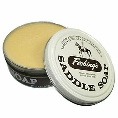 340g FIEBINGS SADDLE SOAP  CLEAN RENEW SMOOTH LEATHER SHOES BAGS FURNITURE