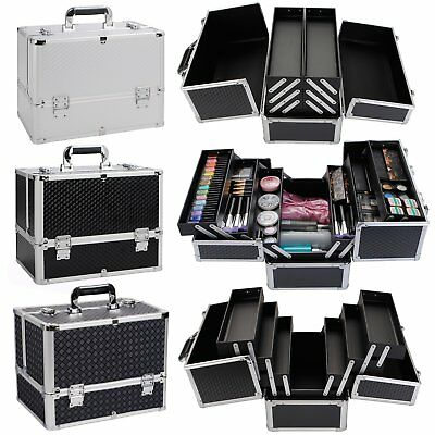 Extra Large Space Professional Beauty Make up Nail Tech Cosmetic Box Vanity Case