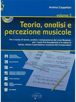 Andrea Cappellari Teoria Analisi E Percezione Musicale Libro CD MUSIC BOOK & CD