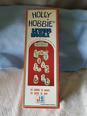 Vintage Collectible & Rare Holly Hobbie Sewing Mobile. Nib. Never Used.  Austn.