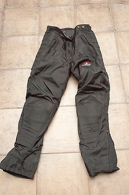 Orina Black XLL Motorcycle Pants - Waterproof / Knee Pads