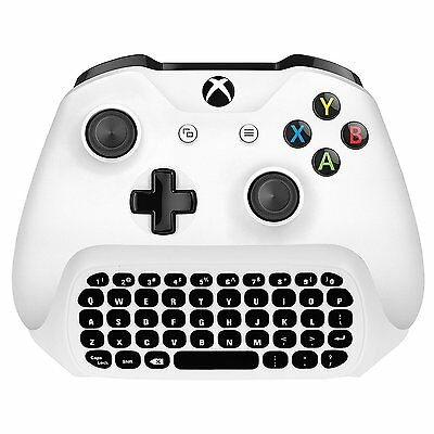 2.4g Mini Wireless Chatpad Message Keyboard for Xbox One S Slim Controller White