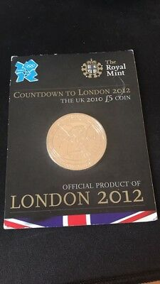 Countdown To London Olympics 2012 £5 Five Pound Coin Royal Mint 2010