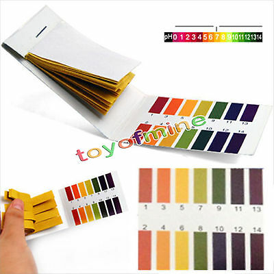 800Pcs/set New Universal Indicator Test Strips Paper for Body Water Soil 1-14 pH