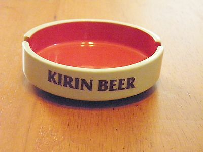 "Vintage ""kirlin Beer"" Promo Ashtray Made In Japan By Sakura Japanese Advertising"