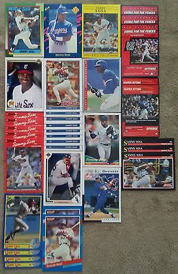 Lot 15 Different Sammy Sosa Cards - 1990-2003 - ROOKIE - 35 Cards Total