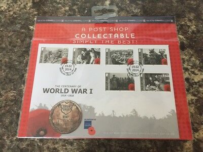 Collectable Isle Of Man Centenary Of World War One Stamps Excellent Condition