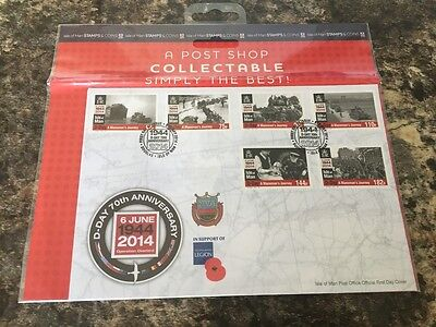Collectable Isle Of Man D-Day 70Th Anniversary First Day Issue Stamps Mint Cond