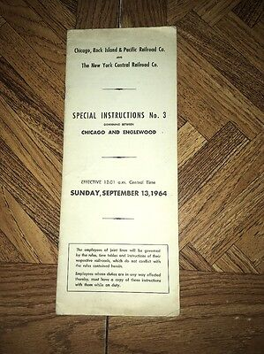 Vintage Chicago Rock Island & Pacific Railroad Co. And N. Y. Central Railroad Co