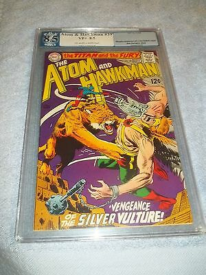 The Atom, and Hawkman, no 39, 8.5, PGX not CGC, 1968, Silver Vulture