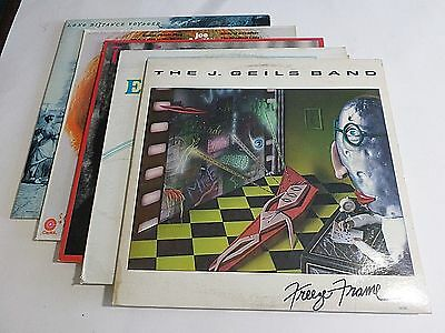 Lot Of 5 70s Pop Rock LP Wholesale J Geils Band Moody Blues Vinyl Record