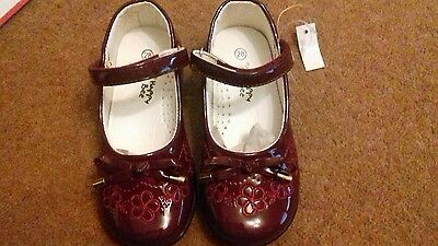 girls=infants shoes= Faishon patent wine shoes by Happy Bee. sizes 7.5 -11.